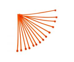Pochette de 100 rislans Racetech 4,8x300mm Orange