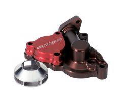Cache carter de pompe à eau Pro Circuit avec turbine Rouge Kawasaki KX 250 F 2004-2013