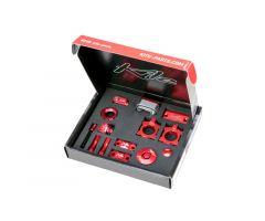 Kit d'accessoires Kite CNC Rouge Honda CRF 150R 2007-2014