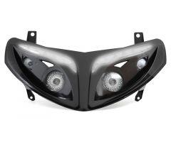 Double optique à leds blanches Replay RR8 Noir Peugeot Speedfight 2