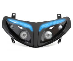 Double optique à leds bleues Replay RR8 Noir Peugeot Speedfight 2