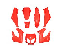 Kit carénages Replay Rouge Brillant Derbi Senda jusqu'a 2010