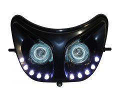 Double optique à leds blanches Replay RR8 Noir Derbi Senda
