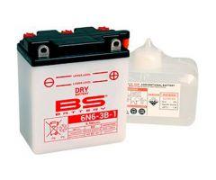 Batterie BS Battery 6N6-3B-1 Conventionnelle Livrée Avec Pack Acide
