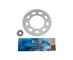 Kit chaine Afam 11x50 MBK Xlimit / Yamaha DTR 2004 ***