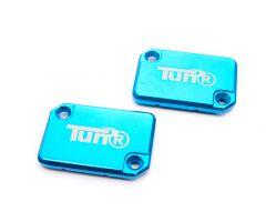 Couvercle de maître cylindre de frein Tun'R X2 Mbk Nitro Bleu***
