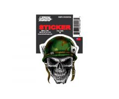 Autocollant Lethal Threat Army Helmet skull