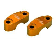 Pontets de guidon Kite supérieurs Ø22mm Orange