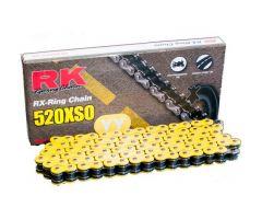 Chaine RK X-RING 520XSO/112 Ouverte avec attache à river Jaune