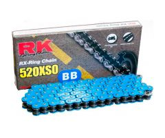 Chaine RK X-RING 520XSO/112 Ouverte avec attache à river Bleu