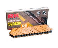 Chaine RK X-RING 520XSO/112 Ouverte avec attache à river Orange