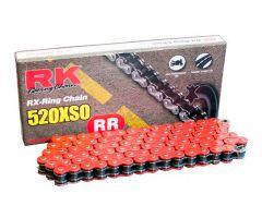 Chaine RK X-RING 520XSO/112 Ouverte avec attache à river Rouge