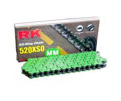 Chaine RK X-RING 520XSO/112 Ouverte avec attache à river Vert