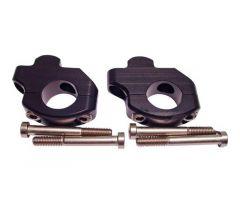 Pontets de guidon LSL 22mm, 35mm réhaussé, 16mm vers l'arrière Noir