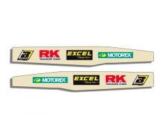 Autocollants de bras oscillant Blackbird Racing Logo Kawasaki 450 KXF 2004-2015 Transparent