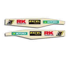 Autocollants de bras oscillant Blackbird Racing Logo KTM 300 EXC 1998-2007 Transparent