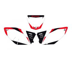 Fonds de plaques Blackbird Racing Dream Graphic 2 Honda CRF 250 R 2004-2005 Blanc