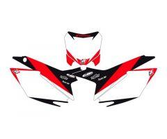 Fonds de plaques Blackbird Dream Graphic 2 Blanc Honda CRF 250 R 2014-2017