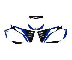 Fonds de plaques Blackbird Racing Dream Graphic 2 Yamaha 250 YZF 2001-2005 Blanc