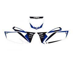 Fonds de plaques Blackbird Racing Dream Graphic 2 Yamaha 250 YZF 2010-2013 Blanc