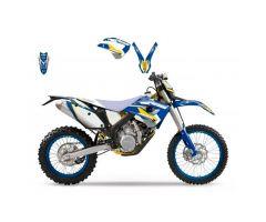Kit déco Blackbird Dream Graphic 3 Bleu / Jaune Husaberg 501 FE 2009-2012