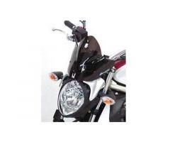 Bulle / Pare-brise Bullster 25cm Noir Fumé Suzuki SFV 650 Gladius 2009-2014