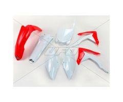 Kit plastiques complet UFO Rouge / Blanc Honda CRF 250 R 2014-2017