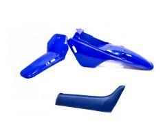 Kit plastiques complet ART 3 pièces + Selle Bleu Yamaha PW 80