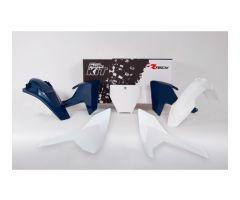 Kit plastiques complet Racetech Blanc / Bleu Husqvarna TC 125 2016-2018