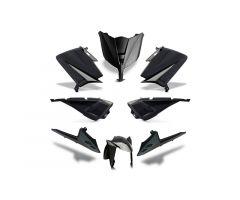 Kit carénages BCD avec led avant / avec poignées arrière / avec rétroviseurs Noir Yamaha 530 T-Max 2012-2014