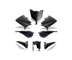 Kit carénages BCD avec led avant / avec poignées arrière / avec rétroviseurs Noir Mat Yamaha 530 T-Max 2012-2014