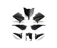 Kit carénages BCD avec led avant / avec poignées arrière / sans rétroviseurs Noir Mat Yamaha 530 T-Max 2012-2014