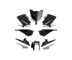 Kit carénages BCD avec led avant / sans poignées arrière / avec rétroviseurs Noir Yamaha 530 T-Max 2012-2014