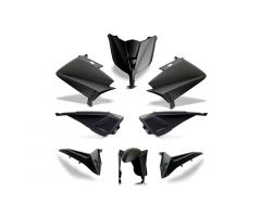 Kit carénages BCD avec led avant / sans poignées arrière / avec rétroviseurs Noir Mat Yamaha 530 T-Max 2012-2014