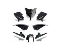 Kit carénages BCD avec led avant / sans poignées arrière / sans rétroviseurs Noir Yamaha 530 T-Max 2012-2014