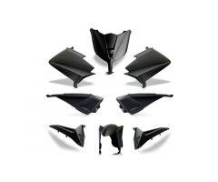 Kit carénages BCD avec led avant / sans poignées arrière / sans rétroviseurs Noir Mat Yamaha 530 T-Max 2012-2014
