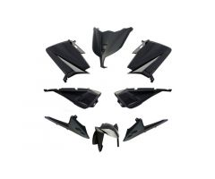 Kit carénages BCD avec poignées arrière / avec rétroviseurs Noir Yamaha 530 T-Max 2012-2014