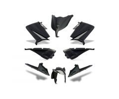 Kit carénages BCD avec poignées arrière / avec rétroviseurs Noir Yamaha 530 T-Max 2015-2016