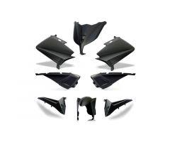 Kit carénages BCD avec poignées arrière / avec rétroviseurs Noir Mat Yamaha 530 T-Max 2015-2016