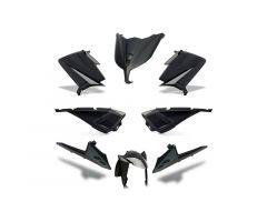 Kit carénages BCD avec poignées arrière / sans rétroviseurs Noir Yamaha 530 T-Max 2015-2016