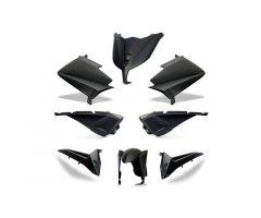Kit carénages BCD avec poignées arrière / sans rétroviseurs Noir Mat Yamaha 530 T-Max 2015-2016