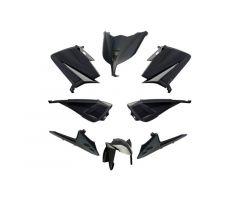 Kit carénages BCD sans poignées arrière / avec rétroviseurs Noir Yamaha 530 T-Max 2012-2014