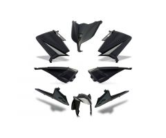 Kit carénages BCD sans poignées arrière / avec rétroviseurs Noir Yamaha 530 T-Max 2015-2016