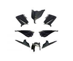 Kit carénages BCD sans poignées arrière / sans rétroviseurs Noir Yamaha 530 T-Max 2012-2014