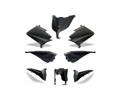 Kit carénages BCD sans poignées arrière / sans rétroviseurs Noir Mat Yamaha 530 T-Max 2015-2016