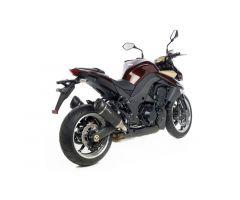 Double silencieux d'échappement Leovince Factory S Carbone Kawasaki Z1000 2010-2016