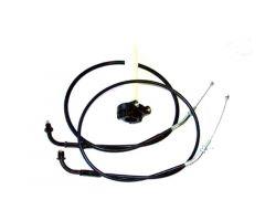 Commande + cables d'accélérateur Mikuni rampe à palonnier keihin / mikuni cuve incliné