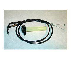 Commande + cables d'accélérateur Mikuni rampe à palonnier keihin / mikuni cuve droite