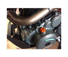 Bouchon de carter d'huile Evotech 18X1.5mm Orange KTM Duke 390 / RC 390 ...