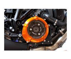 Cache carter d'embrayage Evotech Orange KTM Super Duke 1290 R / RC8 1190 ...